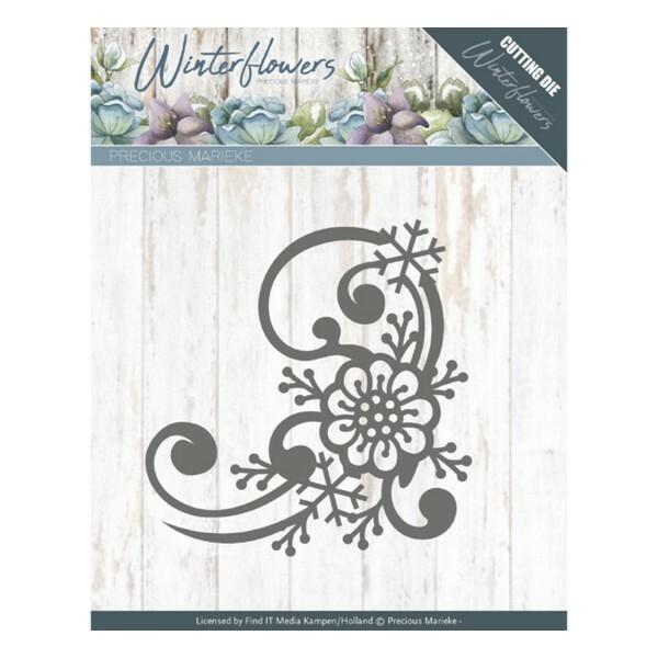 Die matrice de découpe embossage Precious Marieke WINTER FLOWERS 10144 - Photo n°1