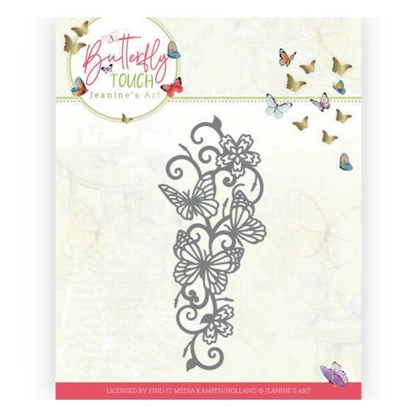 Die matrice de découpe embossage Jeanine s Art Butterfly Touch BUTTERFLY BORDER 10121 - Photo n°1