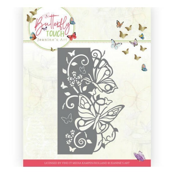 Die matrice de découpe embossage Jeanine s Art Butterfly Touch BUTTERFLY EDGE 10119 - Photo n°1