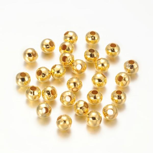 Perles métal 5 mm doré x 20 - Photo n°1