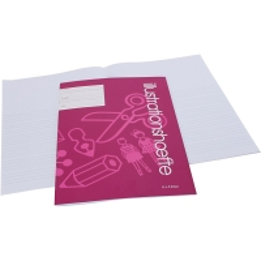 Cahier d'exercices avec espace pour des images/photos, dim. 21x29,7 cm, 25 pièce/ 1 Pq.