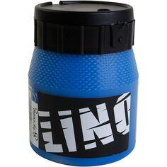 Encre lino, bleu, 250 ml/ 1 flacon