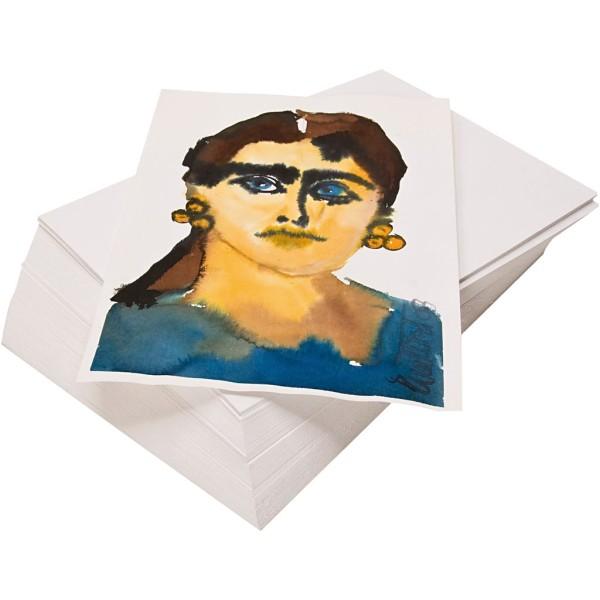 Papier Aquarelle recyclé A4 - 21 x 29,7 cm - 100 feuilles - Photo n°1