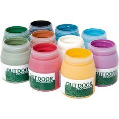 Peinture d'éxtérieur, couleurs assorties, 10x250 ml/ 1 Pq.