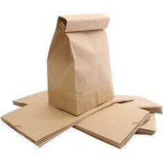 Sac en papier, brun, dim. 15x25x43 cm, 50 pièce/ 1 Pq.