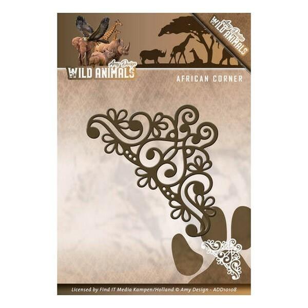 Die matrice de découpe embossage Amy Design WILD ANIMALS 108 - Photo n°1