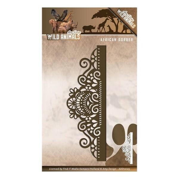 Die matrice de découpe embossage Amy Design Wild Animals AFRICAN BORDER 10105 - Photo n°1