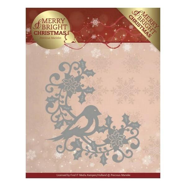 Die matrice de découpe embossage Precious Marieke MERRY BRIGHT CHRISTMAS 130 - Photo n°1