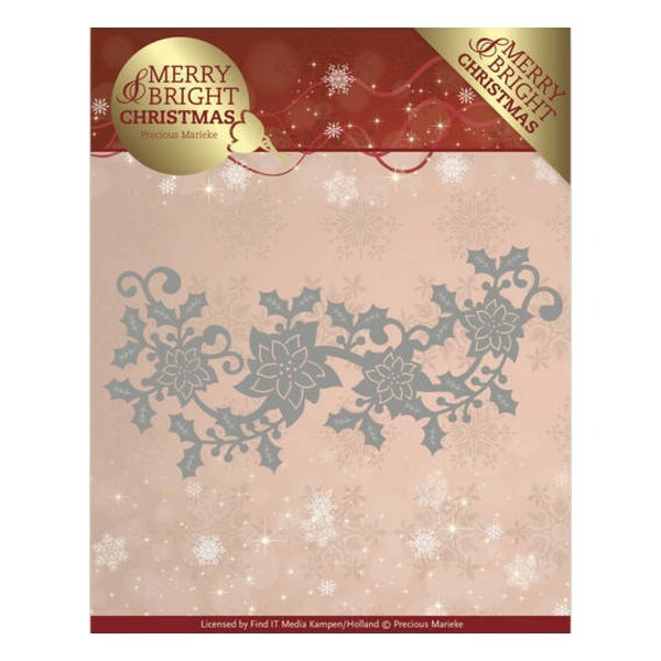 Die matrice de découpe embossage Precious Marieke MERRY BRIGHT CHRISTMAS 129 - Photo n°1