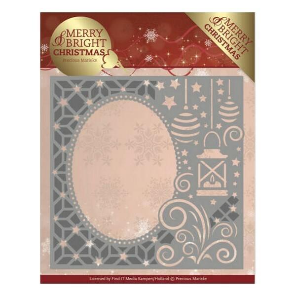 Die matrice de découpe embossage Precious Marieke MERRY BRIGHT CHRISTMAS 125 - Photo n°1