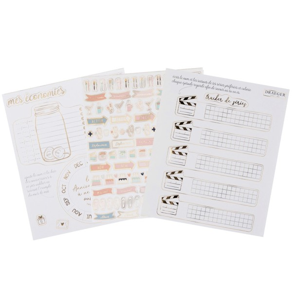 Stickers Organisation pour Bullet Journal - 12 planches - Photo n°2
