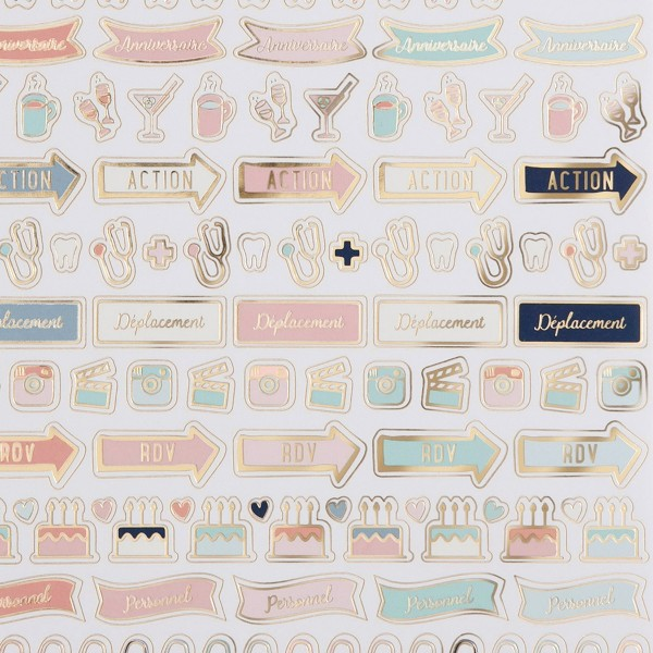 Stickers Organisation pour Bullet Journal - 12 planches - Photo n°3