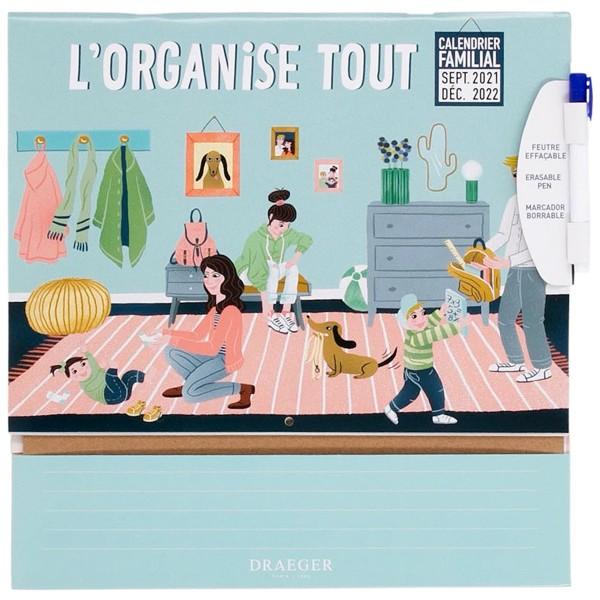 Calendrier Familial - L'organise tout - 28,5 x 28,5 cm - Photo n°1
