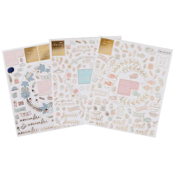 Stickers pour Agenda et Bullet Journal - 2021/2022 - 12 planches - Photo n°2