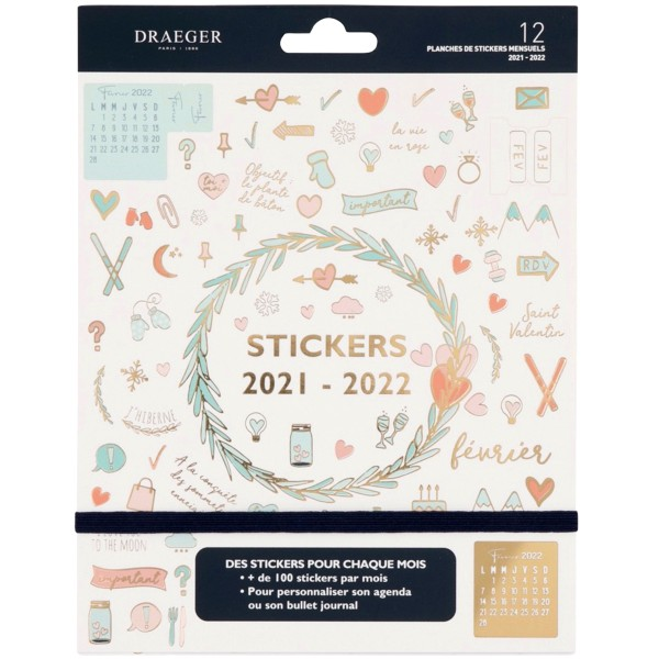 Stickers pour Agenda et Bullet Journal - 2021/2022 - 12 planches - Photo n°1