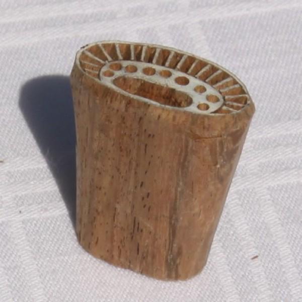 Tampon batik en bois, pochoir ethnique, tampon encreur - Photo n°3