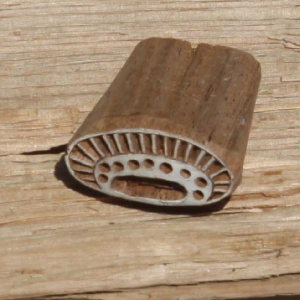 Tampon batik en bois, pochoir ethnique, tampon encreur - Photo n°1