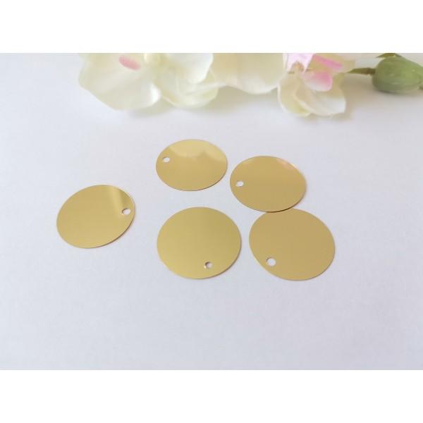 Sequins PVC 20 mm doré x 10 - Photo n°1