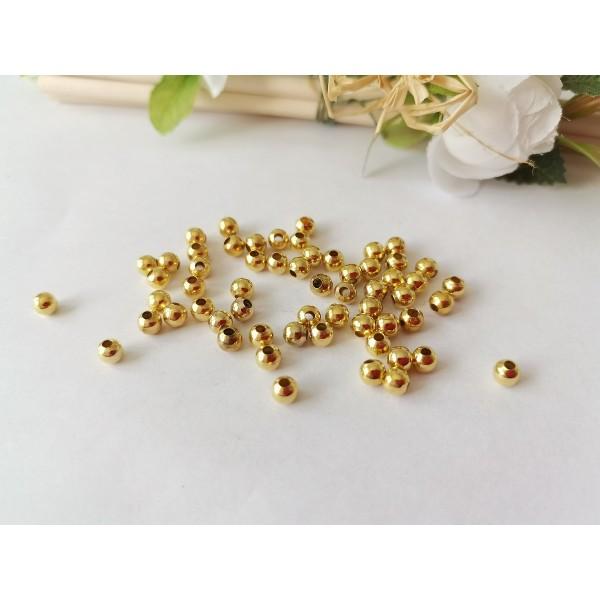 Perles métal 4 mm doré x 50 - Photo n°1