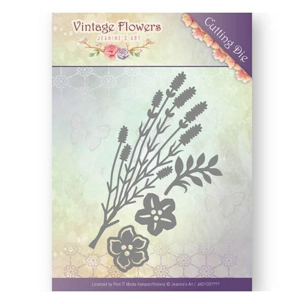 Die matrice de découpe embossage Jeanine s Art VINTAGE FLOWERS 10037 - Photo n°1