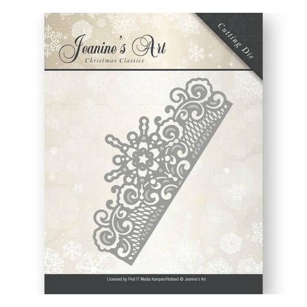Die matrice de découpe embossage Jeanine s Art Christmas Classics FROZEN BORDER 10008 - Photo n°1