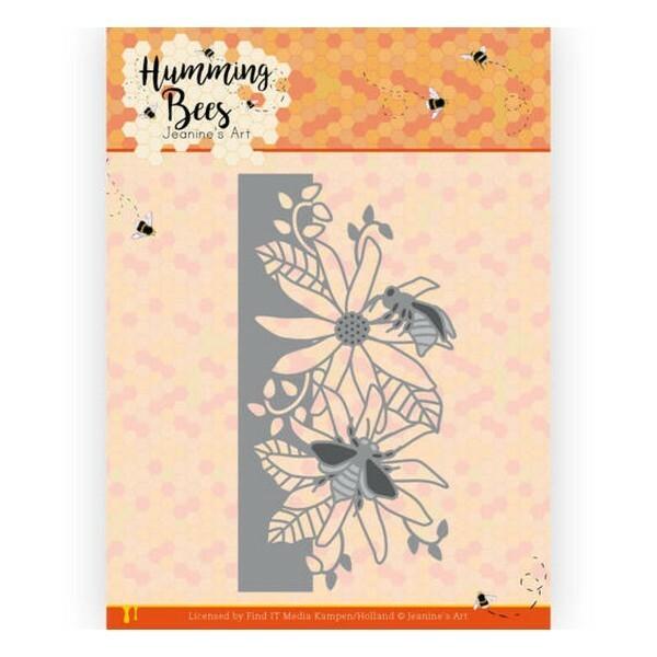 Die matrice de découpe embossage Jeanine s Art Humming Bees FLOWER BORDER 10126 - Photo n°1