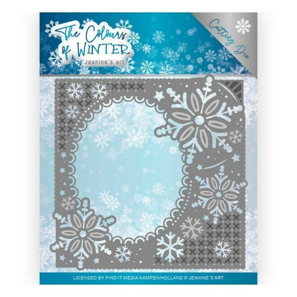 Die matrice de découpe embossage Jeanine s Art The Colours Of Winter WINTER FRAME 10108 - Photo n°1