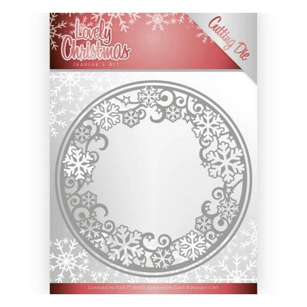 Die matrice de découpe embossage Jeanine s Art Lovely Christmas CIRCLE FRAME 10077 - Photo n°1