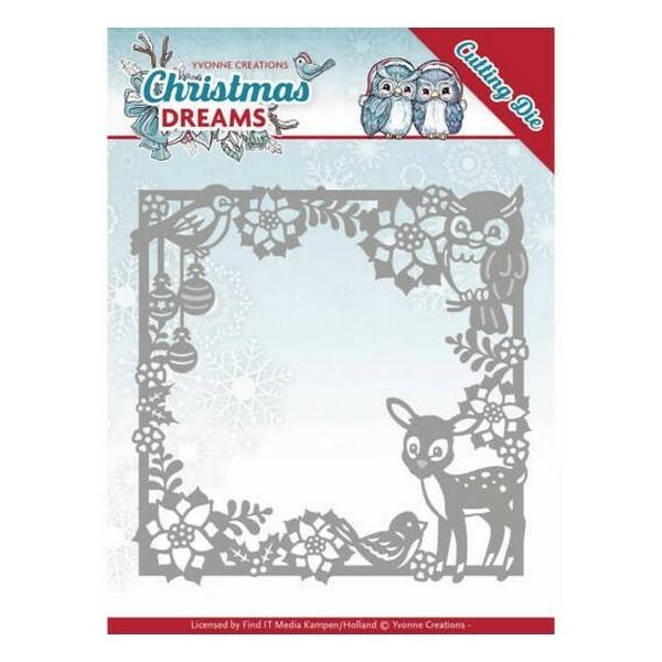 Die matrice de découpe embossage Yvonne Créations Christmas Dreams ANIMAL FRAME 10140 - Photo n°1