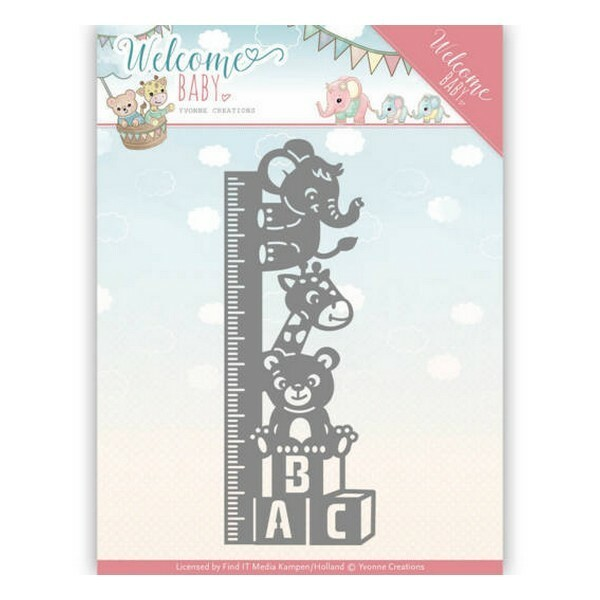 Die matrice de découpe embossage Yvonne Créations Welcome Baby GROWTH CHART 10136 - Photo n°1