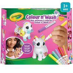 Mini coffret créatif Colour'n'Wash Washimals - Décore tes animaux - 2 pcs