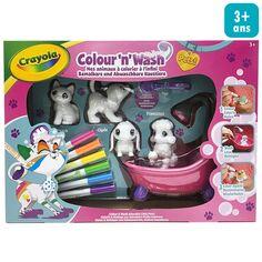 Coffret créatif Colour'n'Wash Washimals - Décore tes animaux - 4 pcs