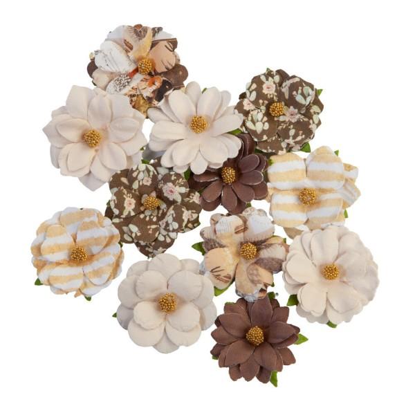 12 pièces fleurs  en papier scrapbooking décoration PRIMA MARKETING 650896 - Photo n°1