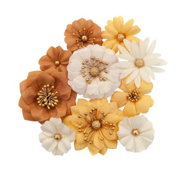 10 pièces fleurs  en papier scrapbooking décoration PRIMA MARKETING 642754 - Photo n°1