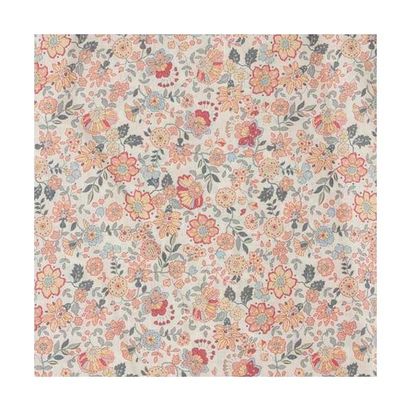 Tissu Voile de Coton Fleurs Corail Bio Gots par par 20 cm/laize (20x146 cm) - Photo n°2
