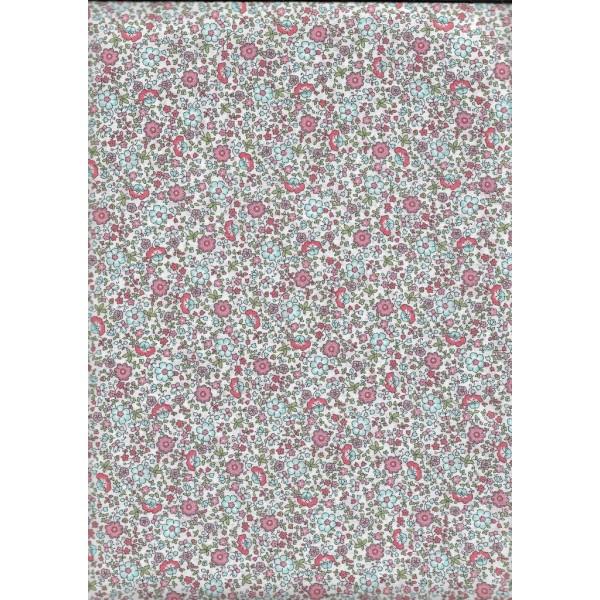 Tissu Voile de Coton Fleurs Bio Gots par par 20 cm/laize (20x146 cm) - Photo n°1