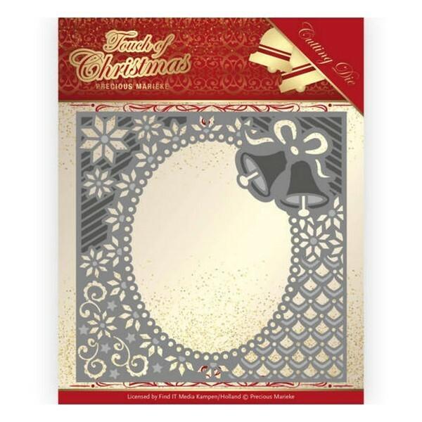Die matrice de découpe embossage Precious Marieke CHRISTMAS BELLS FRAME 10182 - Photo n°1