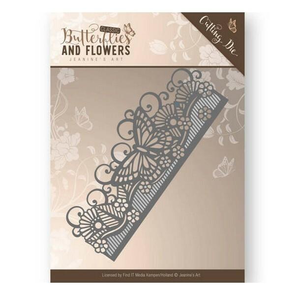 Die matrice de découpe embossage Jeanine s Art Butterflies and Flowers BORDER 10021 - Photo n°1