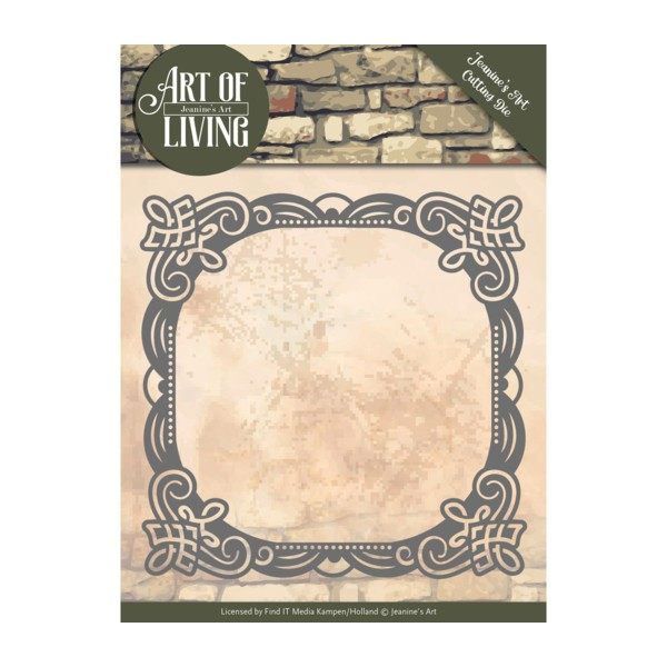 Die matrice de découpe embossage Jeanine s Art Art of Living FRAME 10053 - Photo n°1