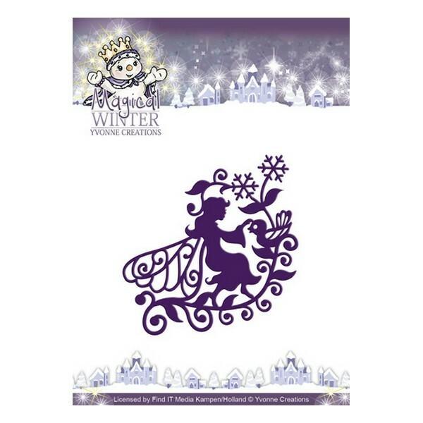 Die matrice de découpe embossage Yvonne Créations Magical Winter FAIRY 10043 - Photo n°1