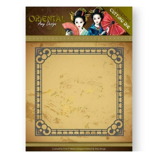 Die matrice de découpe embossage Amy Design Oriental SQUARE FRAME 10165 - Photo n°1