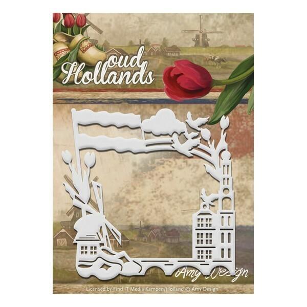 Die matrice de découpe embossage Amy Design Oud Holllands FRAME 10046 - Photo n°1