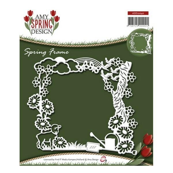 Die matrice de découpe embossage Amy Design Spring Design FRAME 10040 - Photo n°1