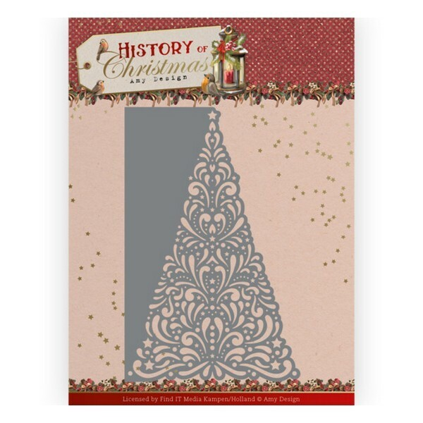Die matrice de découpe embossage Amy Design History of christmas LACY CHRISTMAS TREE 10246 - Photo n°1