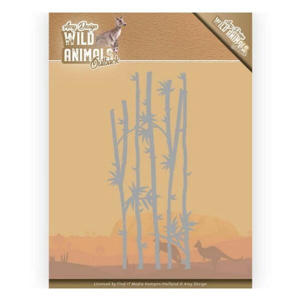 Die matrice de découpe embossage Amy Design Wild Animals BAMBOO GRASS 10204 - Photo n°1
