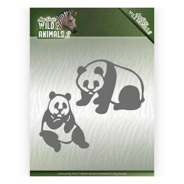 Die matrice de découpe embossage Amy Design Wild Animals PANDA BEAR 10180 - Photo n°1