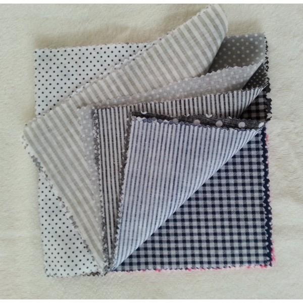 14 Pièces Coupons de Tissu Coton 21x21 cm pour Couture Patchwork Scrapbooking BNRMV - Photo n°2