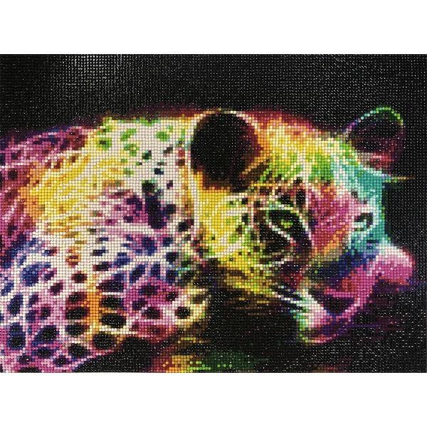 Broderie Diamond Painting - Léopard - 30 x 40 cm - Photo n°2