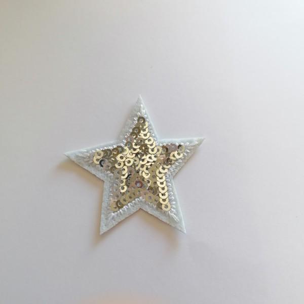 Un thermocollant étoile argenté - Photo n°1