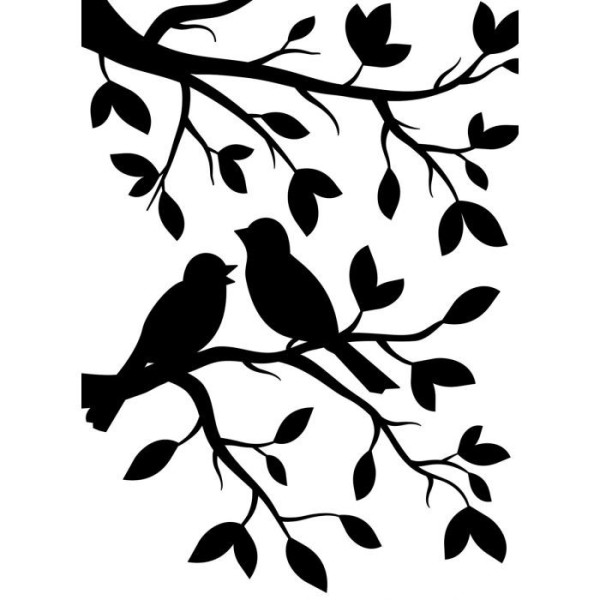 Die classeur d'embossage oiseaux sur une branche Darice - Photo n°1
